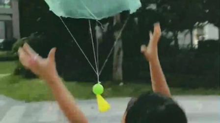 用垃圾的做出一个塑料袋降落伞
