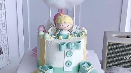 蛋糕男宝宝女宝宝双面蛋糕,又可爱又萌