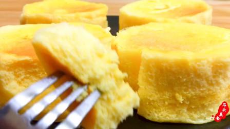 家庭自制小蛋糕,蓬松暄软,入口即化,不用烤箱照样做