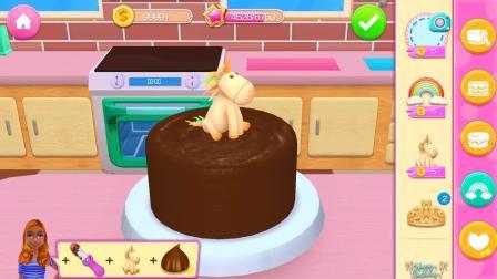 益智早教动画:一起来看怎么做巧克力水果蛋糕动画片