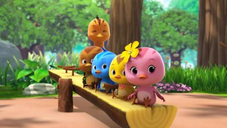 萌鸡小队:小松鼠东找西找,哭得稀里哗啦的,却让萌鸡加入巡逻队