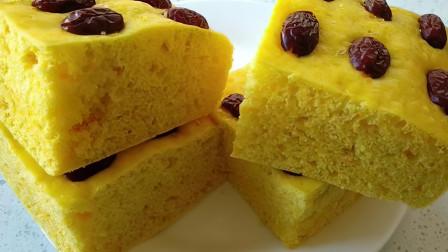 玉米面最好吃做法,开水一烫,手不沾面,筷子一搅,比蛋糕还好吃