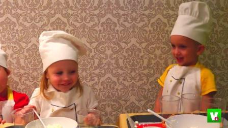儿童益智,小朋友们自制美味早餐,真棒呀