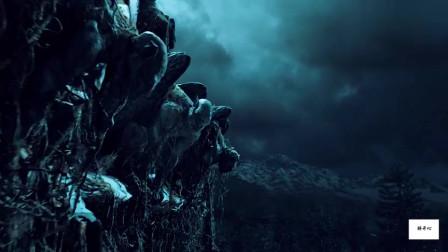 夜行神龙一族白天在屋檐处变成石像!黑夜则化为神龙与恶魔作战