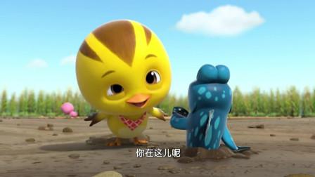 萌鸡小队:麦奇来到泥潭,却追着小鱼跑,结果把他给吓跑了!