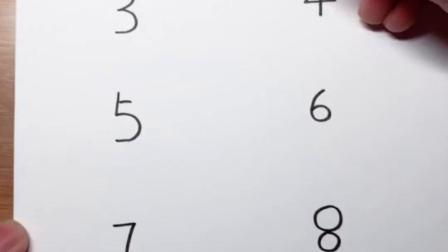 一口气用数字0~9简笔画小动物(上)