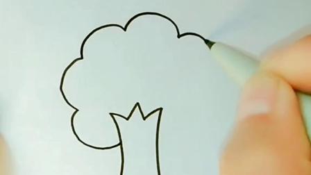 春天来啦,儿童主题画,#简笔画