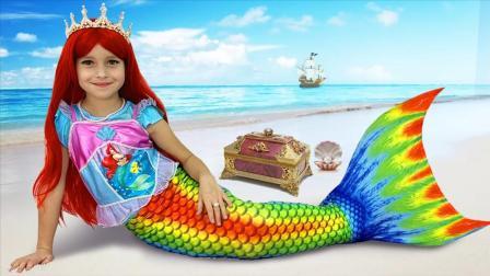 小萝莉和小美人鱼公主,有趣的魔法礼物故事