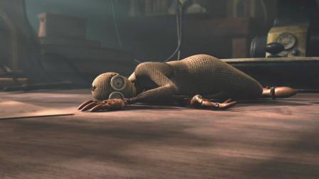 科幻片《机器人9号》博士用自己发明的布偶拯救着惨败的末日世界