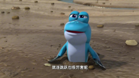 萌鸡小队:大家不相信会走路的小鱼,弹涂鱼给麦奇送围巾