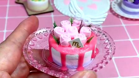 手工轻黏土制作的少女心蛋糕