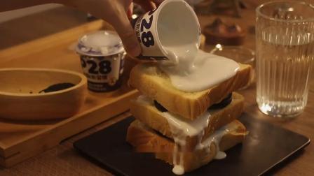 奥利奥+酸奶+吐司=奥利奥吐司蛋糕