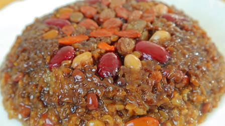红糖糯米饭家常做法,这样做软糯香甜,色泽红亮,好看又好吃
