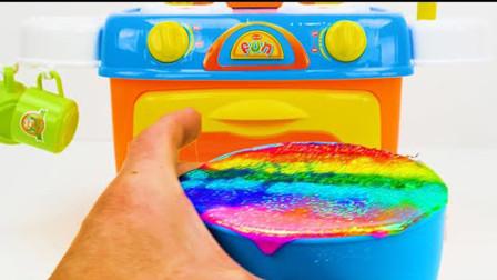 儿童玩具学习视频-学习各种的颜色,形状和数字与生日蛋糕!