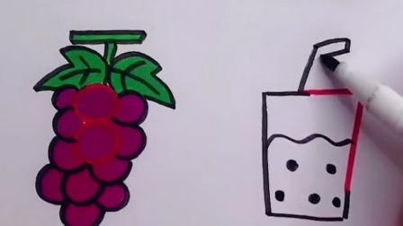 幼儿益智简笔画用数字画水果简笔画