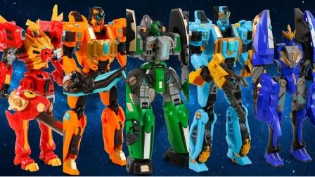 变形金刚玩具:钢铁飞龙爆炎狮王形态转换,神兽形态太炫酷了!