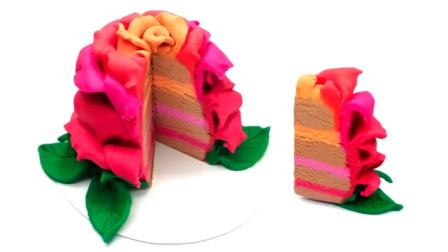 哇!这个玫瑰花型的蛋糕真好看,是如何制作的呢?