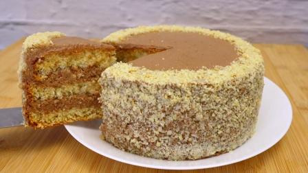 超简单的坚果蛋糕教程!做法简单零失败
