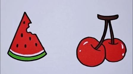 幼儿益智简笔画:水果简笔画