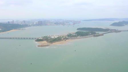 实拍广西防城港市西湾旅游景区 打造城在海中 海在城中的城市名片