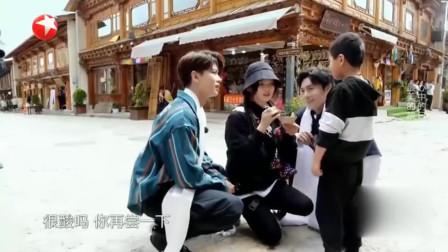 杨超越哄小学生吃酸奶,真是绝了