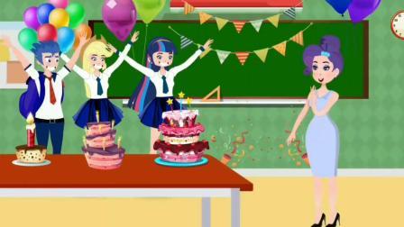 紫悦和阿坤合力做蛋糕,谁是倒数第一名?小马国女孩游戏