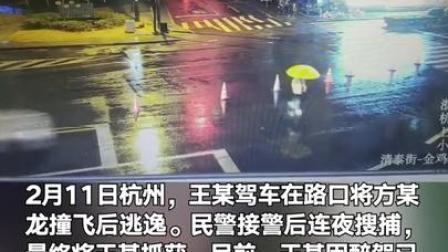 男子醉驾撞飞行人逃逸被。