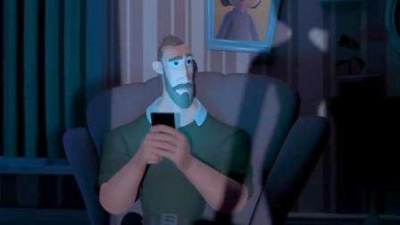 讽刺动画:父亲沉迷玩手机,直到手机没电才发现女儿已长大成人