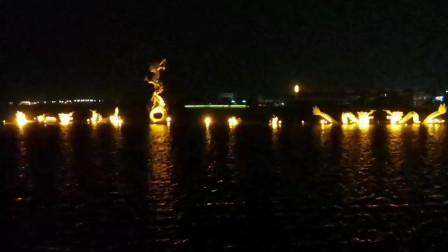 河南周口淮阳龙湖 夜晚景