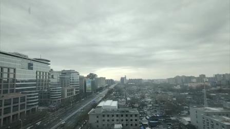 延时摄影,看雪后的天空云卷云舒