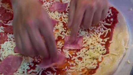 街边美食:芝士,香肠,培根,披萨,开饭啦