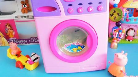 小猪佩奇动漫第二季,粉红猪小妹的跷跷板和冰箱玩具