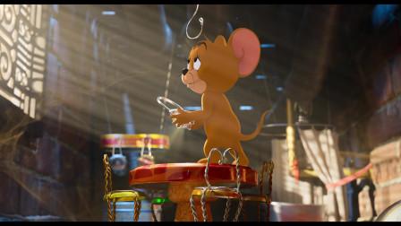 猫和老鼠大电影片段12片段:汤姆设计了一个陷阱把杰瑞抓住了