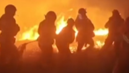 宁夏固原市一林场发生火情 致6人受伤2人