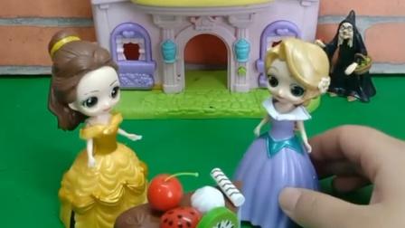 老巫婆给蛋糕上施了魔法,贪吃的小孩,长发想吃被贝尔阻止了