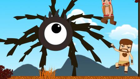 迷你小洞:迷斯拉发现蜘蛛弱点,洞喜从天而降灭怪物