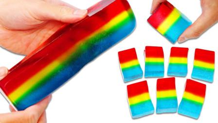 制作美味的彩虹果冻