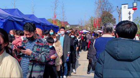 航拍光福香雪海,中国四大赏梅胜地,游客太多了景区都要挤爆了