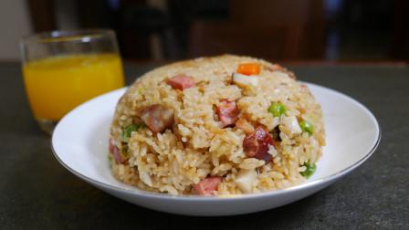 今天做懒人蒸饭,米饭、香菇、腊肠、胡萝卜一锅焖,一锅都不够吃