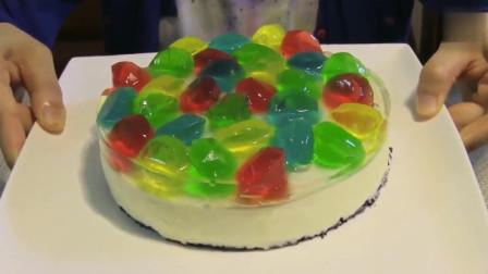 实拍:小姐姐制作钻石乳酪蛋糕,这样的外观,放在蛋糕店一天能买几十个吗?