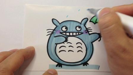 卡通简笔画.龙猫的画法