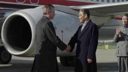 海棠依旧:尼克松访华,前去迎接,历史性的握手!