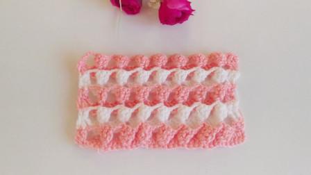 「钩针编织」漂亮的花蕾图案-织法教程