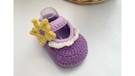 米粒麻麻手工-第133集-乐佩公主宝宝鞋-婴儿鞋子毛线鞋手工钩针-织法教程
