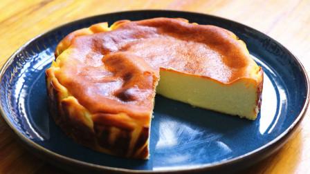 用牛奶做芝士蛋糕,口感绵密细腻,像冰淇淋一样