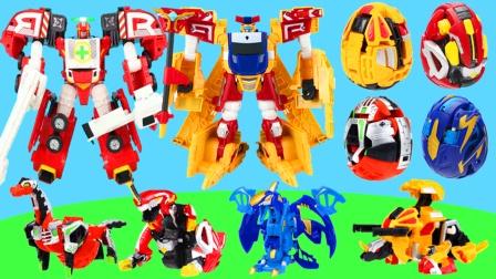 咖宝车神变形机器人和迦宝蛋神变形恐龙玩具