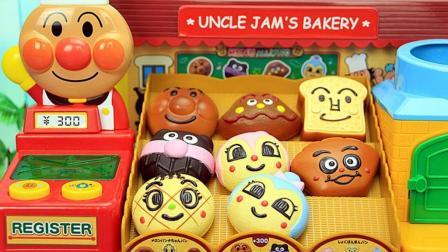 面包超人声光玩具 儿童音乐面包店过家家