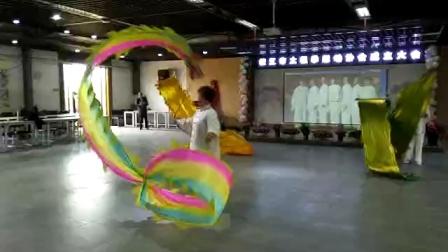 枝江市太极协会年会陈式刀与龙共舞