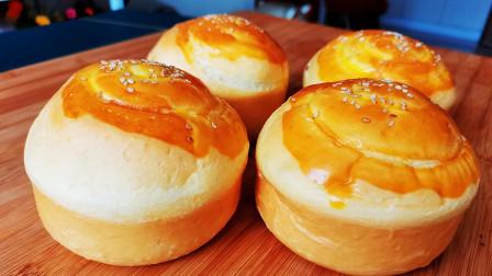 家里没有烤箱照样做面包,松软拉丝,和买的一样漂亮,做法特简单