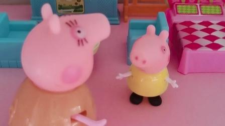 特洛伊感冒了,猪妈妈给她买药吃